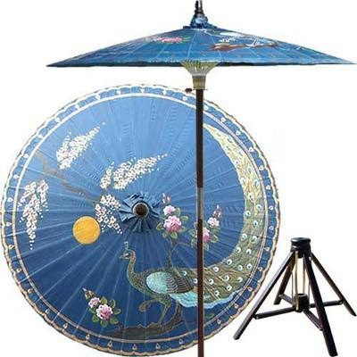allthingspeacock.com - Peacock Outdoor Umbrella