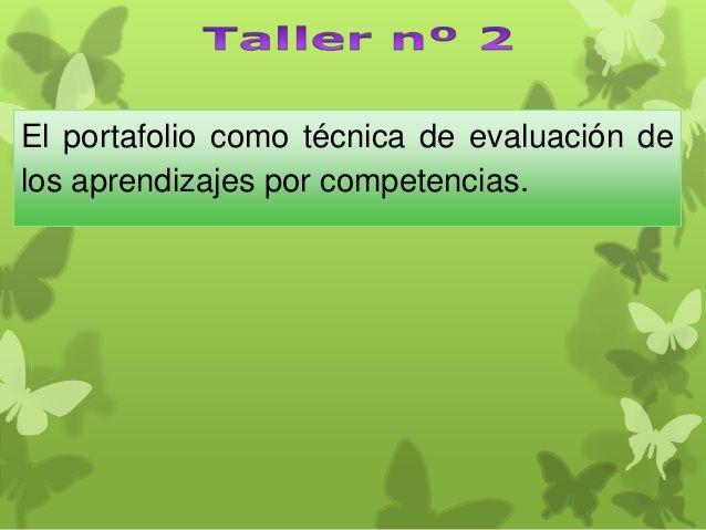 Portafolio y evaluacion por Competencias