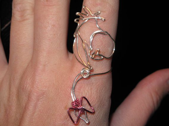 Wire Wrapped Eeyore Adjustable Ring MADE to ORDER on Etsy, $10.00 - I may try my hand at this sometime soon :)