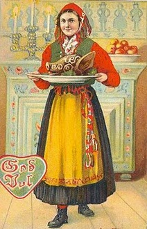Gagnef lady at christmas