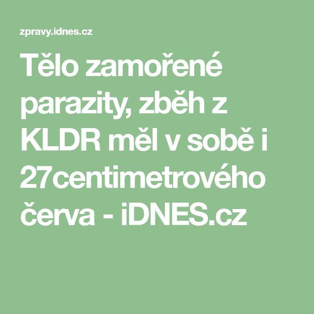 Tělo zamořené parazity, zběh z KLDR měl v sobě i 27centimetrového červa - iDNES.cz