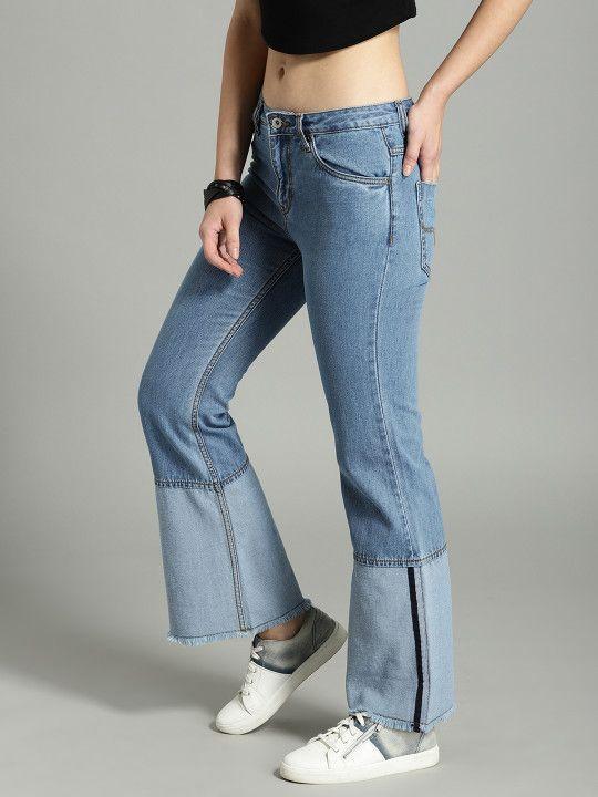 3bc98f854c8 Roadster Women Blue Bootcut Mid-Rise Jeans - | 1019 | Western Wear ...