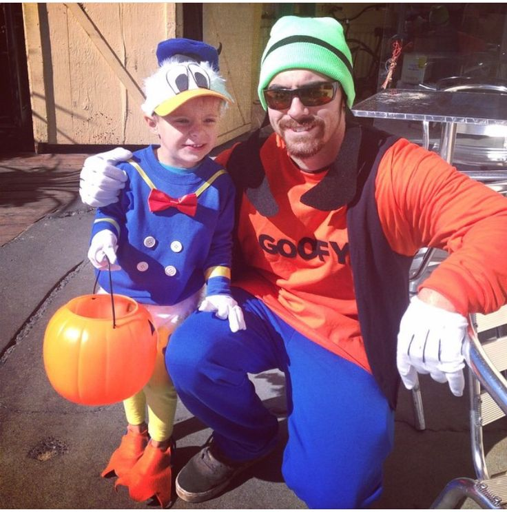 Donald Duck & goofy homemade costumes are the best!