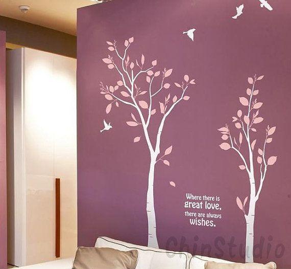 Arte de la etiqueta engomada, etiqueta del árbol, la pared, árbol de Casa Decor-amor gráfico, murales, con la etiqueta de pared de vinilo de...