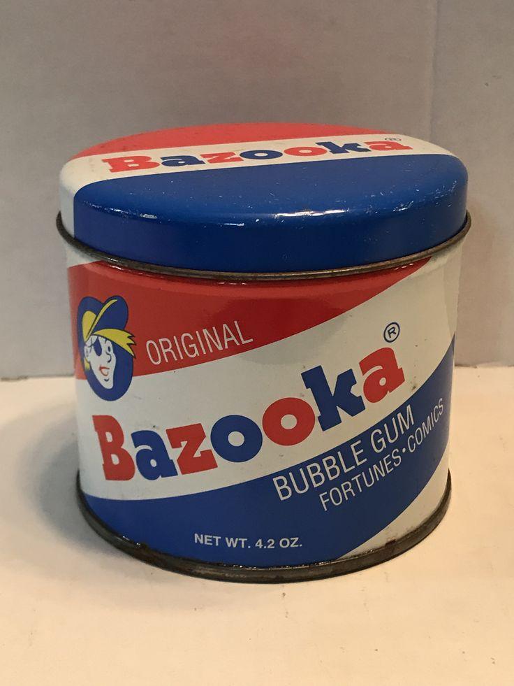 Bazooka Gum Advertising Tin