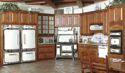 """Two 36"""" Side by Side Refrigerators  Heartland Appliances Classic Kitchen Collection"""