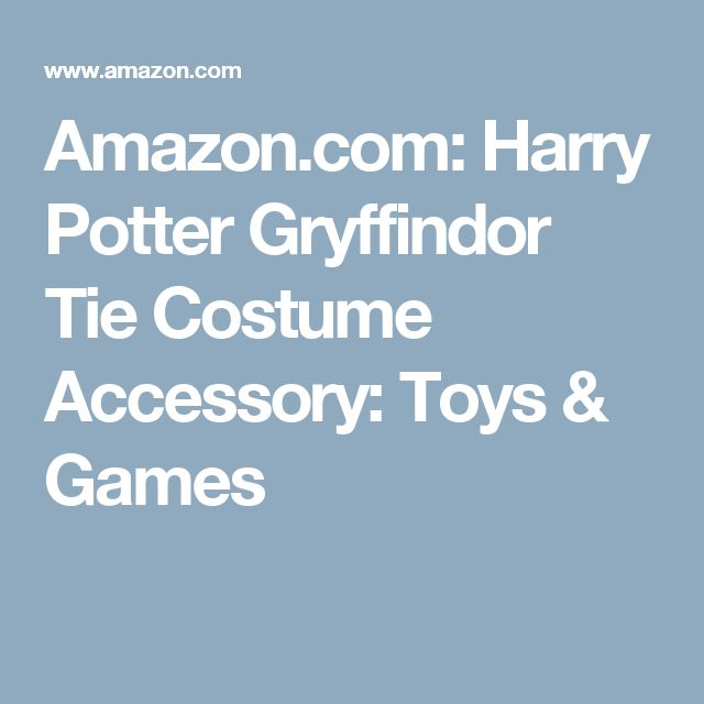 Amazon.com: Harry Potter Gryffindor Tie Costume Accessory: Toys & Games
