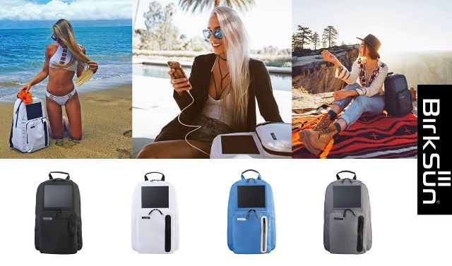 BirkSun Solar-Powered Backpack