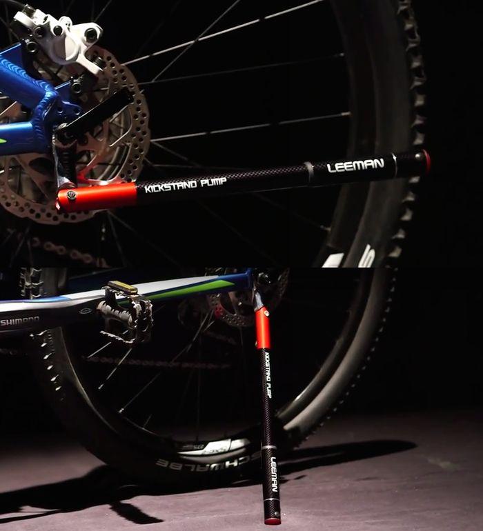 Kickstand Pump - Combines 4 Bike Tools into One by KSEED — Kickstarter