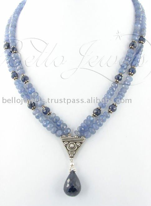Tanzanite Gemstone Beaded Necklce Guragaon Delhi, View Precious Necklace, Bello Jewels Product Details from BELLO JEWELS PVT LTD on Alibaba.com