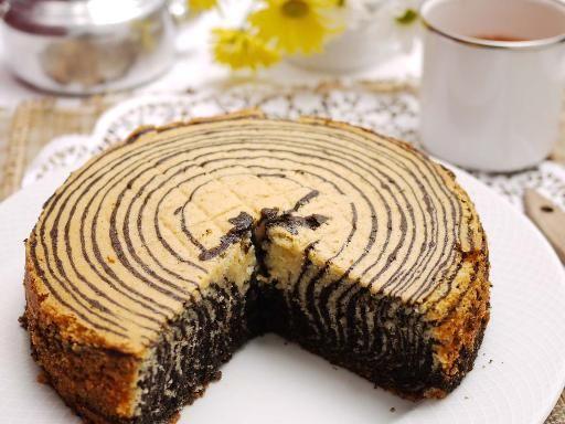 Zebra cake au Multicuiseur - Recette de cuisine Marmiton : une recette
