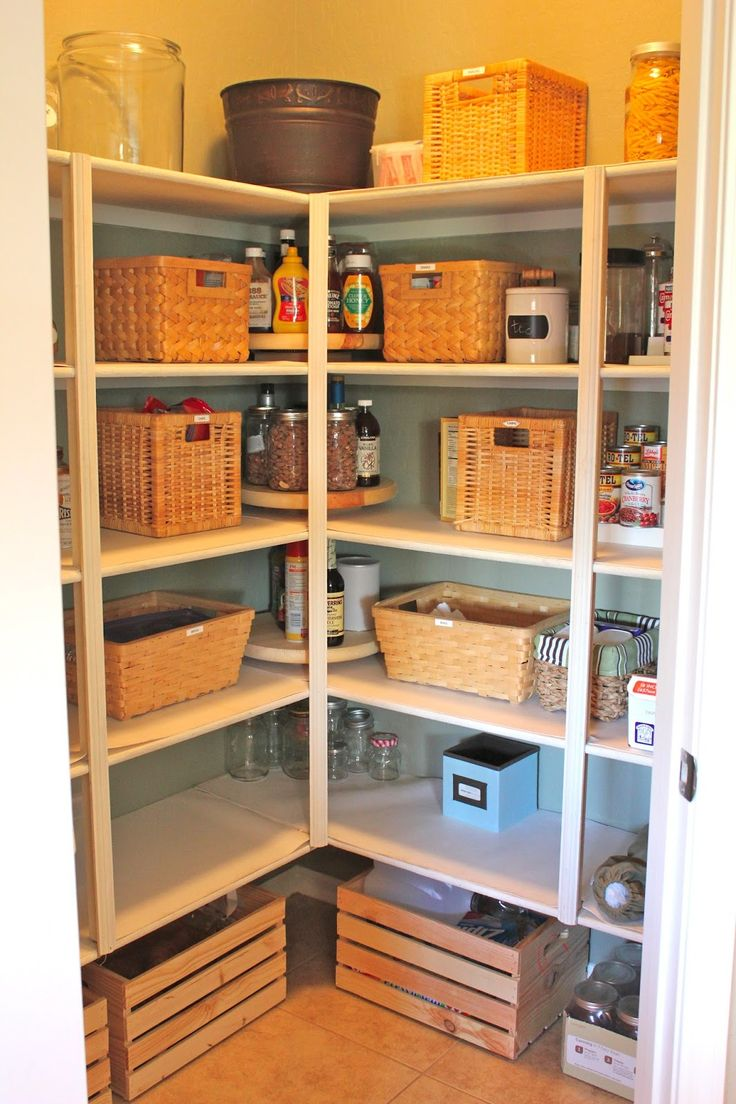 Incomparable Corner Lazy Susan Pantry With Square Rattan Storage Baskets  And Wood Pallet Storage Box Also Tall Glass Jars With Aluminum Lids From  Cabinet ...