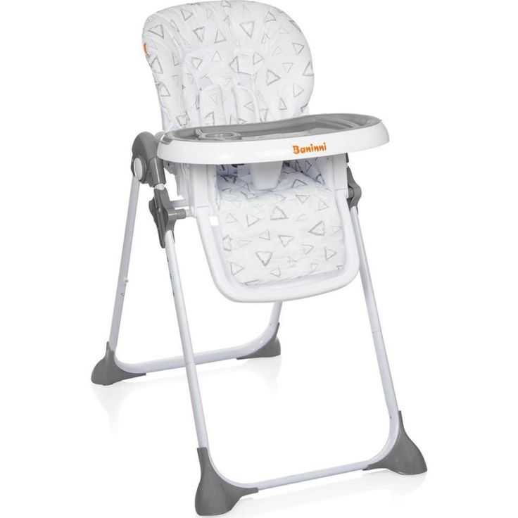Adjustable Baby High Chair Infant Seat Child Toddler Safety Harness Grey Folding #AdjustableBabyHighChair