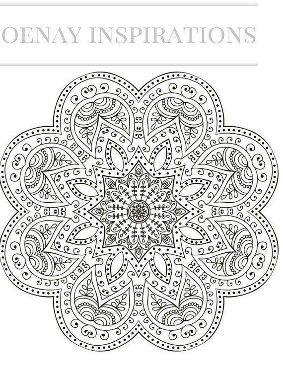 Zen Mandalas Coloring Book : 126 best uncolored printable pages images on pinterest