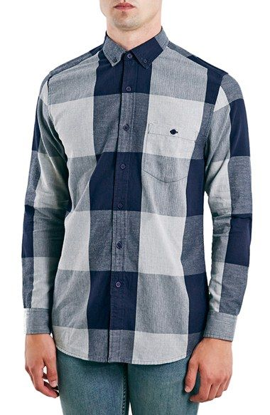 Free shipping and returns on Topman Slim Fit Herringbone Buffalo Check Shirt at Nordstrom.com. Bold Buffalo checks pattern a soft herringbone-woven shirt tailoredin a slim, modern fit. A small-scalebutton-down collar tops the design, lending handsome, gentlemanly form.