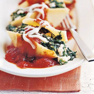 Baked Spinach-Feta Shells 6 servings; 21 carbs per serving