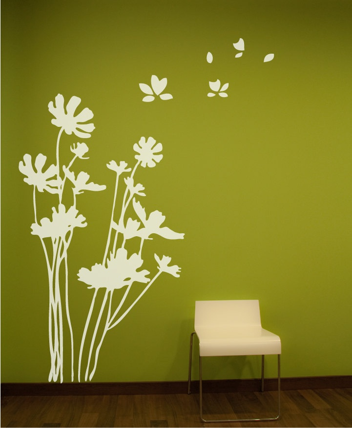 Flowers Wall Decal. Wall Sticker $78.00