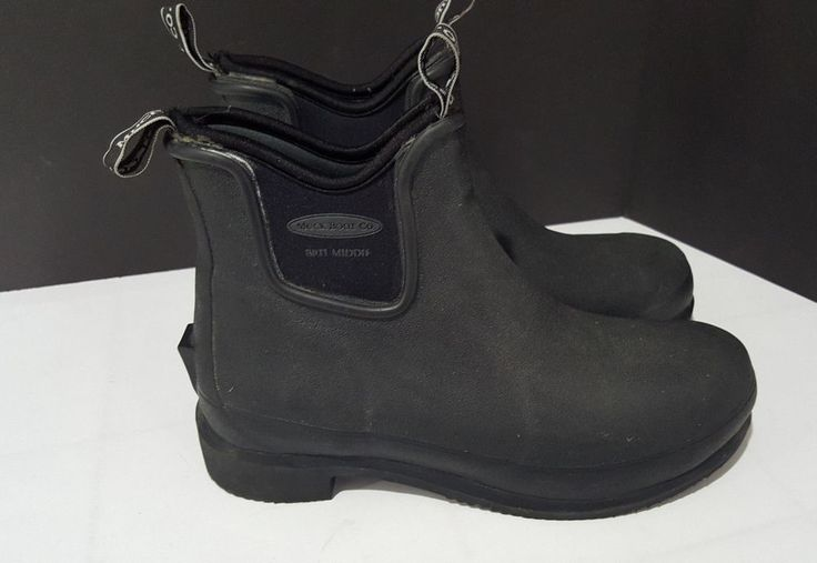 """MUCK BOOTS Women's Black 6"""" Brit Middie All Conditions Riding Boots Sz 7 / 7.5 #MuckBoots #Boots #WalkingHiking"""