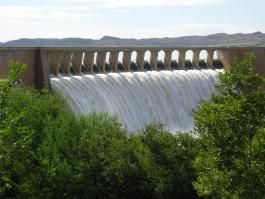 Gariep Dam (which is the largest dam in South Africa