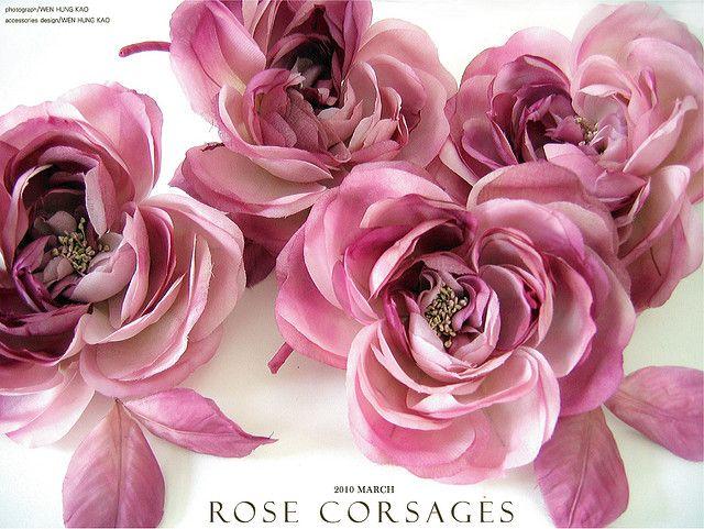 玫瑰胸花花飾特寫