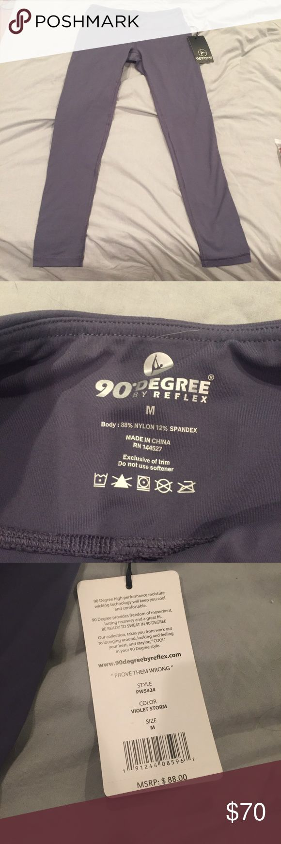 90 Degree by Reflex Violet storm is the color- gorgeous yoga pants 90 Degree By Reflex Pants Leggings