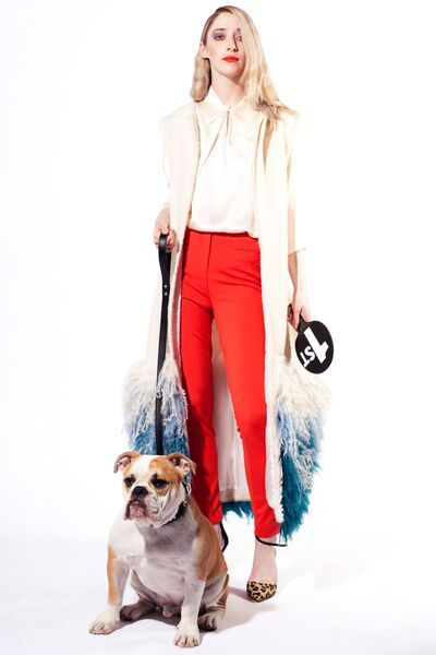Lennon Courtney Trousers Zoë Carol Silk blouse Claire McElduff Gillet Buffalo Leopard print shoes Photography: Alex Sheridan www.alexsheridan.com Creative: Isabella Davey & Sophie Donaldson Hair: Aaron Kiely @ SitStil Makeup: Hannah Phelan Model: Julia Collins With special thanks to Sophie Hogan, George the British Bulldog, South Studios and Ciaran Walsh.