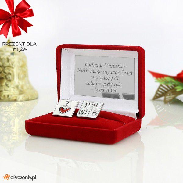 Spinki do mankietów + pudełko z grawerem - prezent dla Niego na Mikołajki ZOBACZ >> https://eprezenty.pl/source/493/85037/