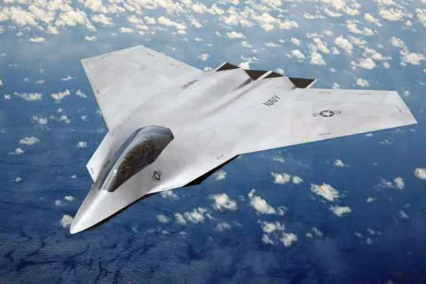 Boeing F/A-XX (2009)  Early design concept for the US Navy's Next Generation Air Dominance program. Design has since changed.
