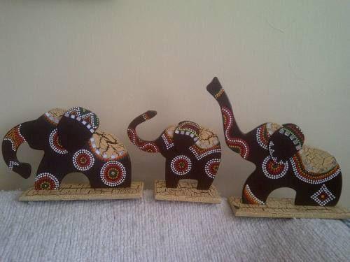 Juegos De Elefantes Decorativos Elaborados En Mdf