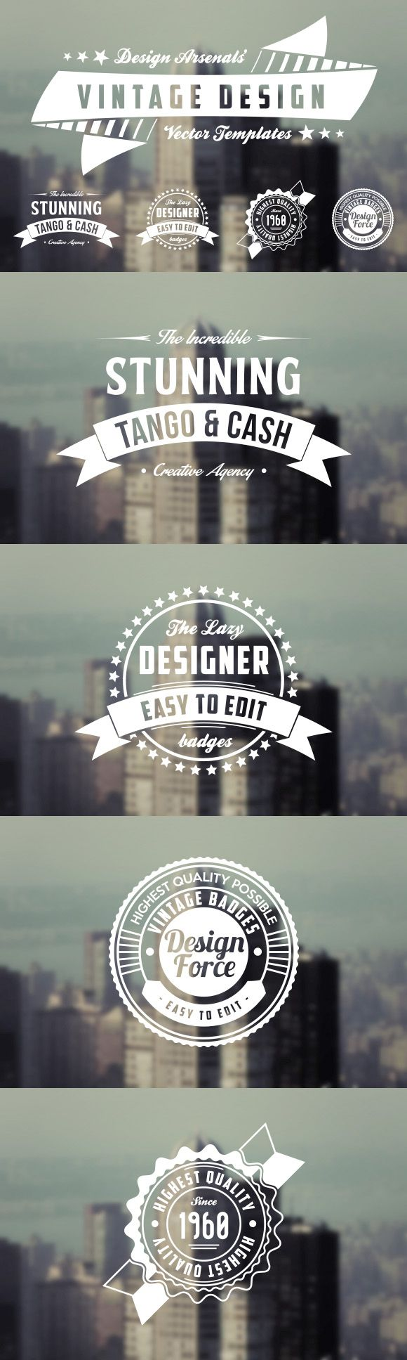 Retro Logo & Badge Templates #design Download: https://creativemarket.com/DesignBeagle/21314-Retro-Logo-Badge-Templates?u=ksioks