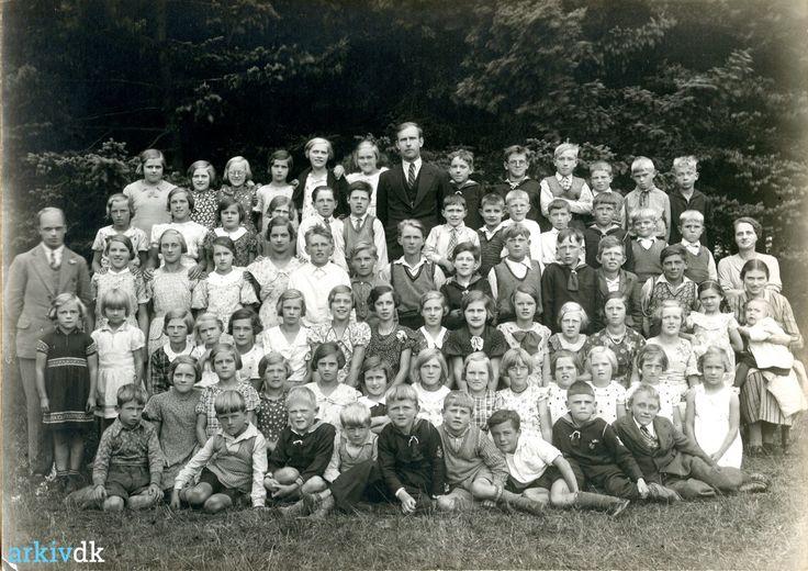 arkiv.dk | Mønsted Skole elever ca. 1937.