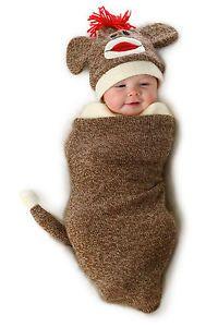 Sock Monkey Marv Bunting Costume Princess Paradise Newborn Baby Infant 0 3  Month  efa26351dac2