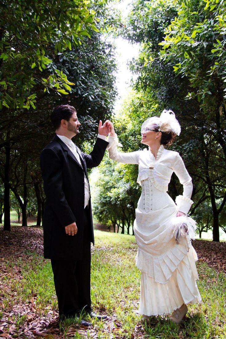 Gaibrielle Scaglione chose a Gallery Serpentine bridal ensemble in ivory for her wedding at a macadamia orchard in northern NSW, Australia.  Ensemlbe - Victorian skirt, Isabella Bolero & Femme Fatale corset.  www.galleryserpentine.com
