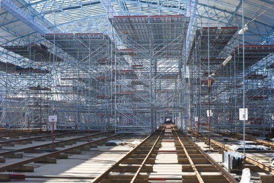 2 800 tonnes d'échafaudages dans la gare Saint-Jean de Bordeaux - Transport et infrastructures