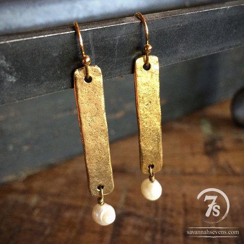 Gold Doc Bar Earrings