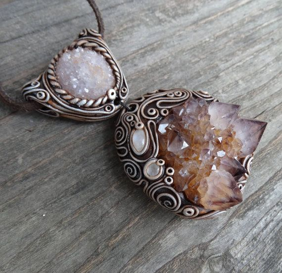 FREE SHIPPING Cactus Quartz Moonstone and Amethyst by FairyDrop