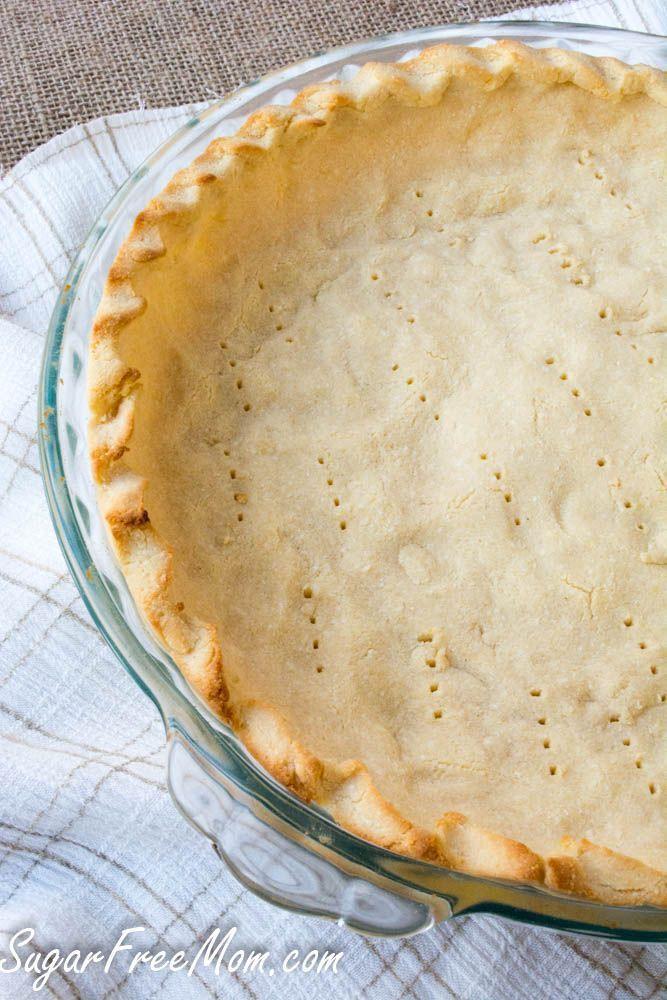 Low Carb, Nut Free Coconut Flour pie crust- grain free-sugarfreemom.com