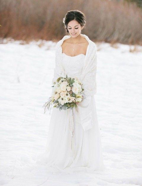 La robe de mariée en hiver