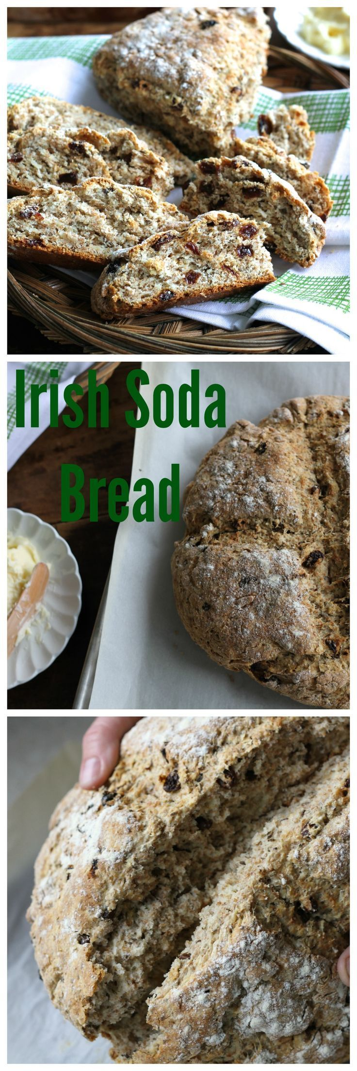 Traditional Irish Soda Bread is easier than you think!  Slathered with salty butter it is out of this world. {Brittany's Pantry}
