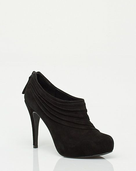 Pleated Suede Shootie