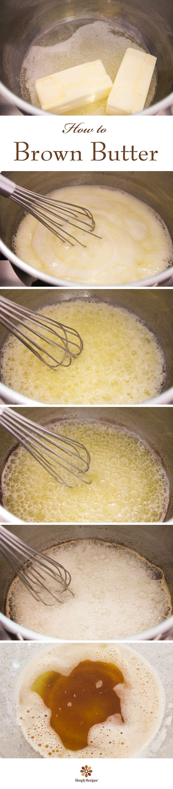 How to Brown Butter ~ Take your recipes up a notch with the nutty aroma of browned butter. It's easy! ~ SimplyRecipes.com