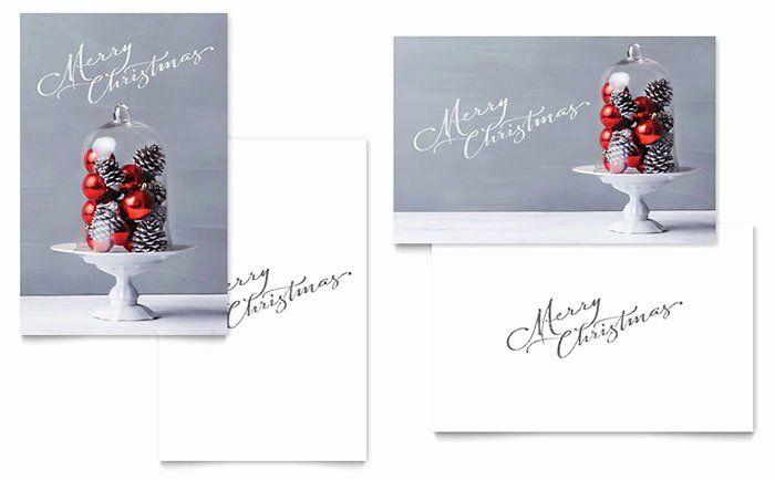 Microsoft Word Birthday Card Template Inspirational Christmas Display Gre Christmas Greeting Card Template Free Greeting Card Templates Christmas Card Template