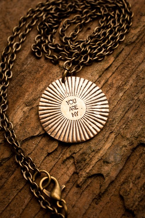 You Are My Sunshine Single Pendant Necklace on BourbonandBoots.com