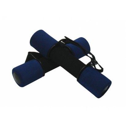 činky aerobik molitanové 2x1kg modré