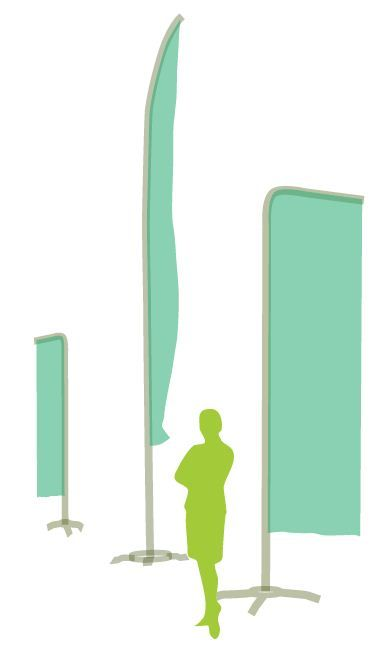 Beachflaggor med ert företags tryck från Dixa tryckeri i Stockholm: