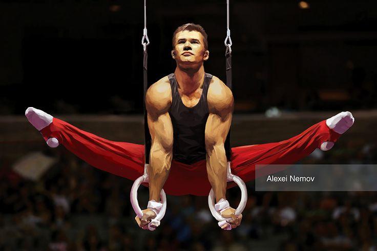 Alexei Nemov. Gymnast. Oleg Tatyanin. Олег Татьянин. Painter. Wacom Cintiq, photoshop. Drawing. Рисунок.