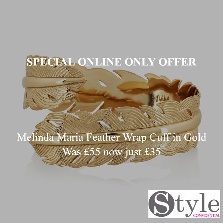 Melinda Maria Feather Wrap Cuff in Gold