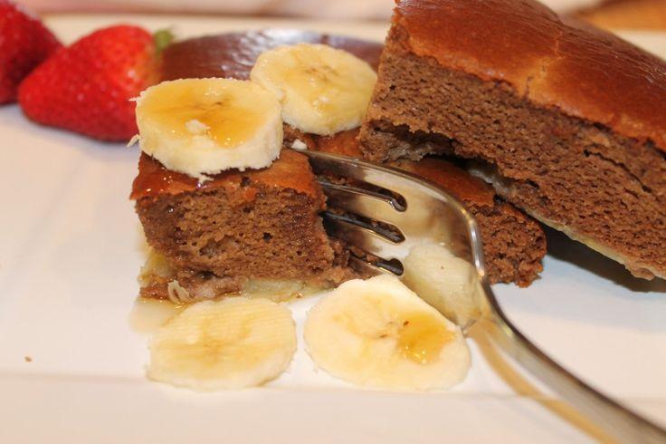 Paleo Chocolate Banana Baked Pancake  #EdibleHarmony