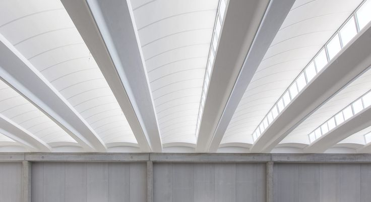 Precast reinforced concrete roof ALIANT SHED by Baraclit Prefabbricati design Baraclit