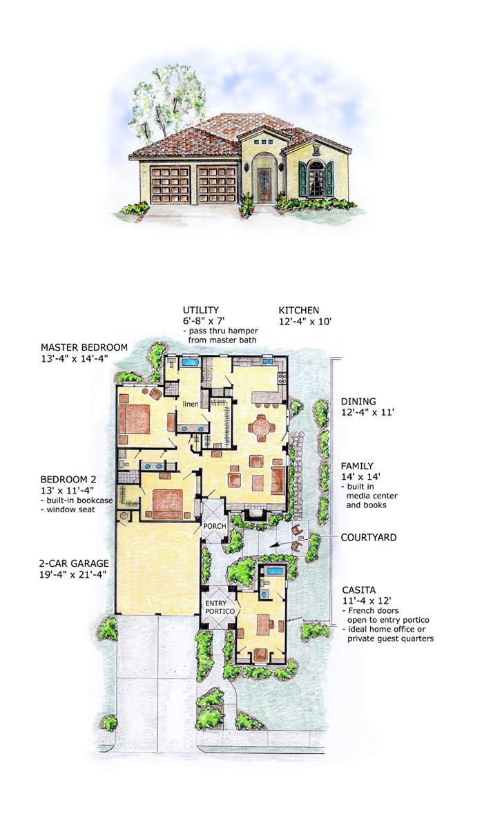 50 best southwest house plans images on pinterest floor plans mediterranean southwest house plan 56510